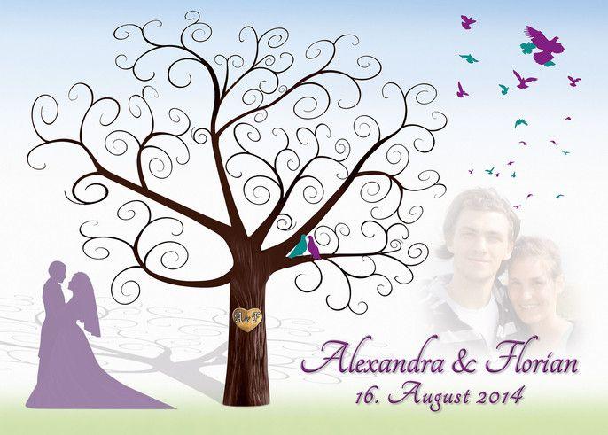 Wedding Tree Motiv14 - Fotoleinwand Leinwand Weddingtree Hochzeitsbaum Wedding Tree