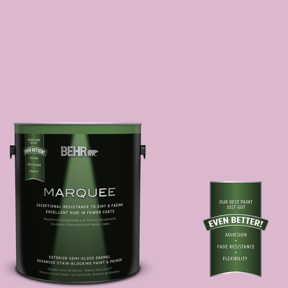BEHR MARQUEE 1-gal. #M120-3 Pink Wink Semi-Gloss Enamel Exterior Paint