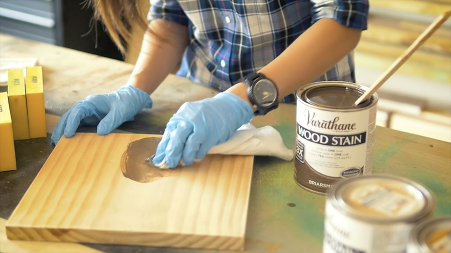 Staining School 101 The Basics Of Staining Wood Staining Wood Varathane Wood Stain Wood Finishing Techniques