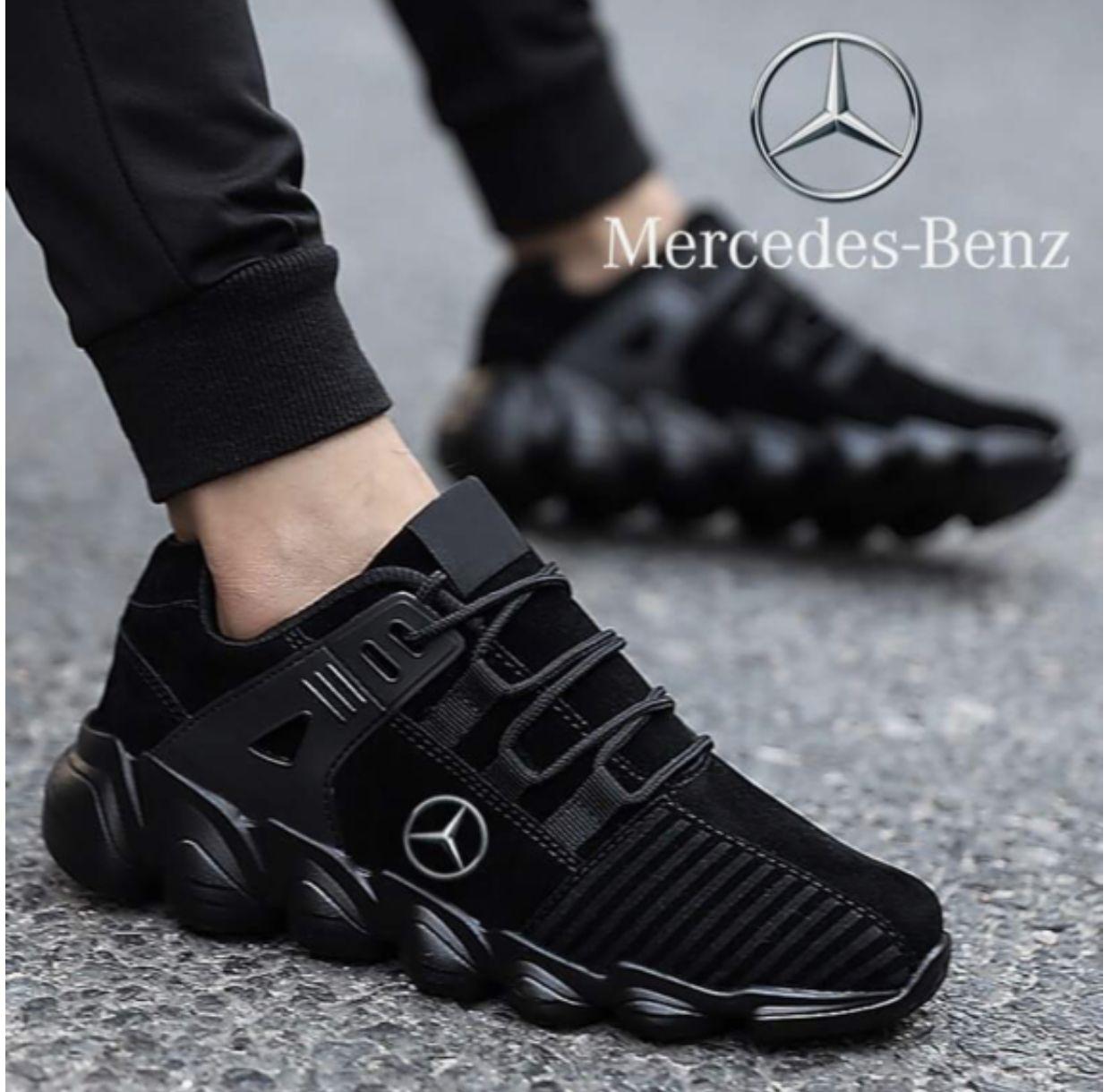 Mercedes Benz All Black Tennis Shoes Running Shoes For Men Black Tennis Shoes Running Shoes [ 1220 x 1242 Pixel ]