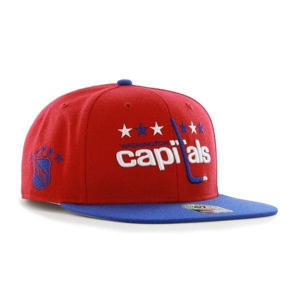 53263f39359 ... closeout washington capitals 47 brand red blue vintage sure shot snapback  hat cap be379 c3e04 ...