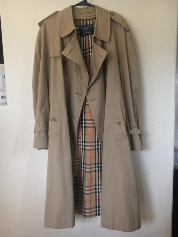 Vintage Burberry Trench Coat Xl, Vintage Burberry Trench Coat