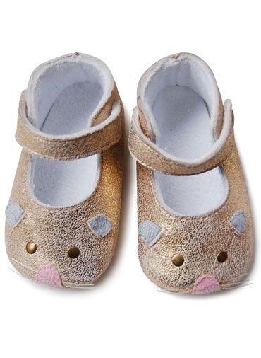 36a85ec4186 Little Marc Jacobs Baby mouse shoes gold #oobibaby | OobiBaby&Kids ...