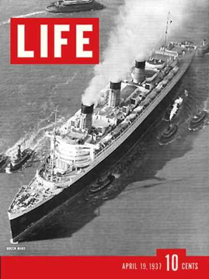 Life Magazine Cover Copyright 1937 Queen Mary   Magazines   Queen