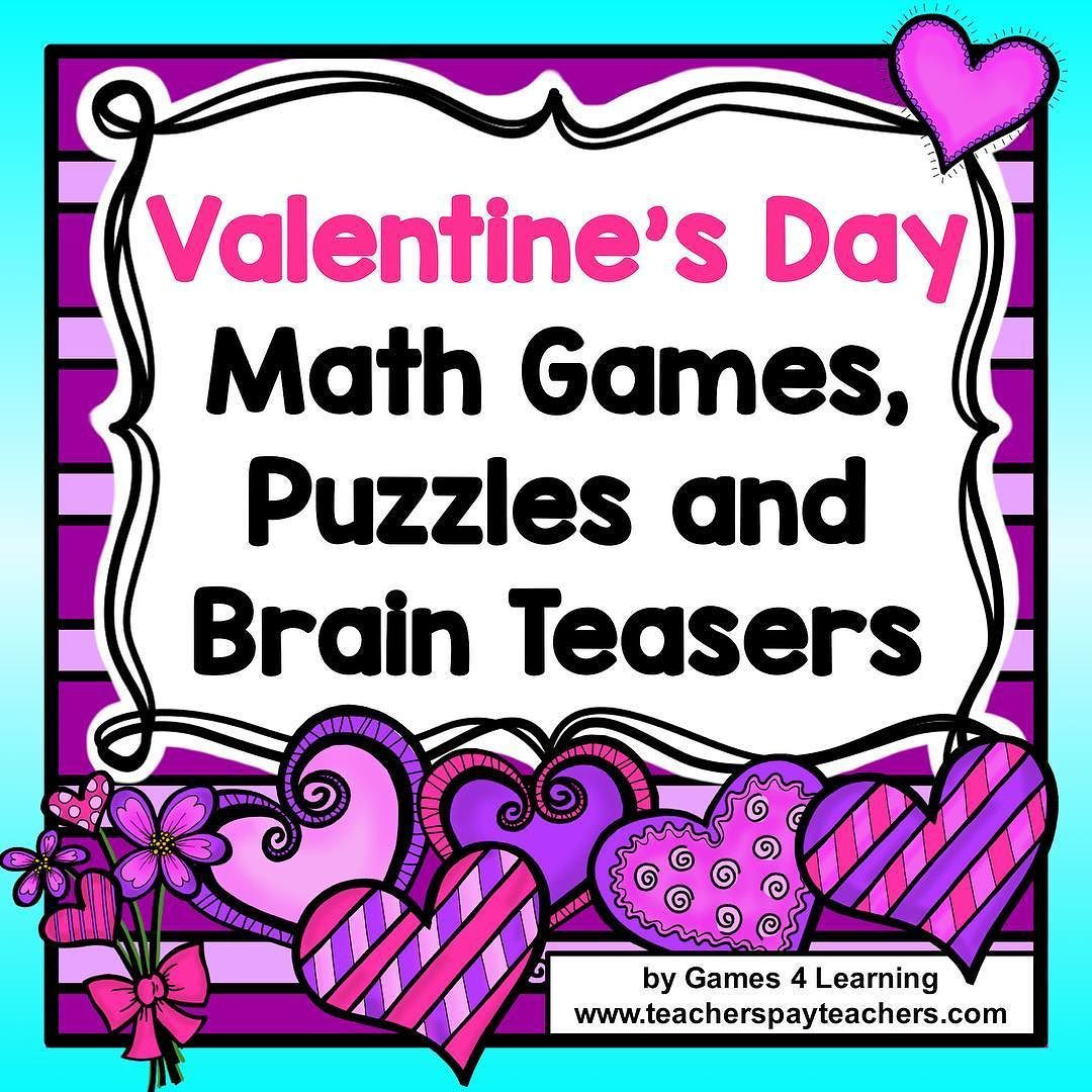 Valentine's Day Math Activities Games, Puzzles and Brain
