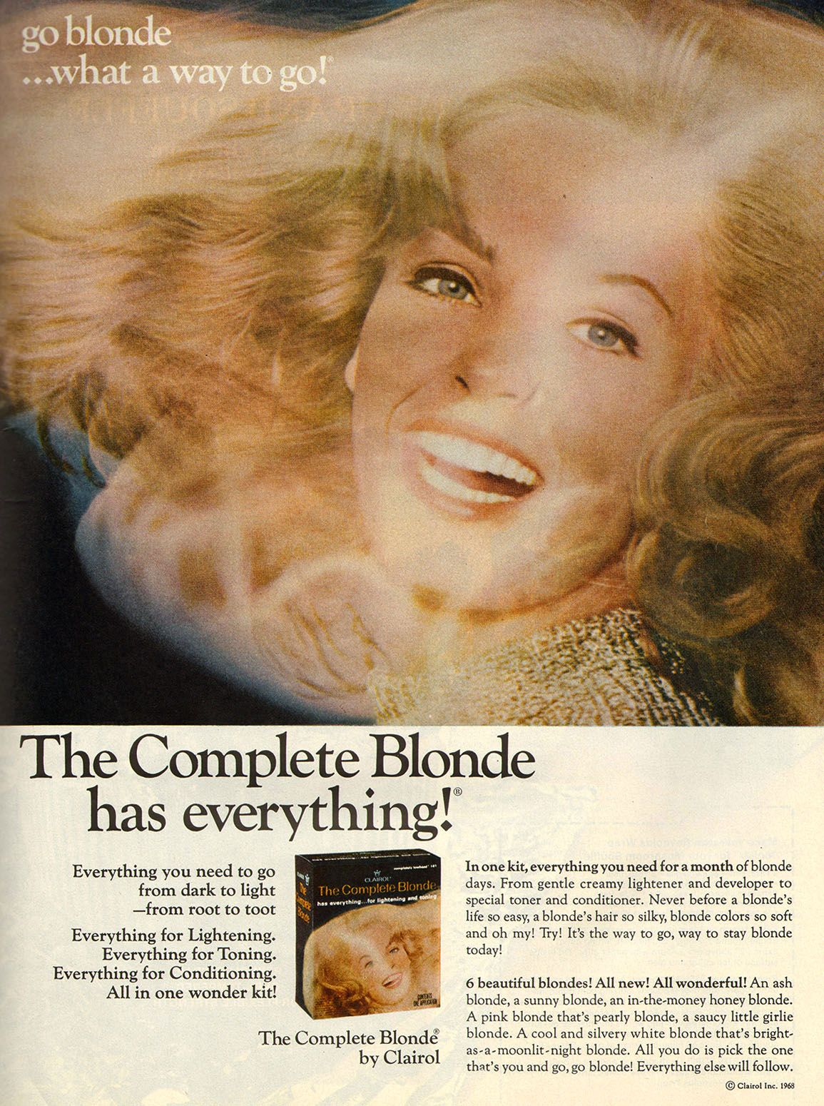 Clairol 1969 Blonde Hair Color Hair Color Dyed Blonde Hair