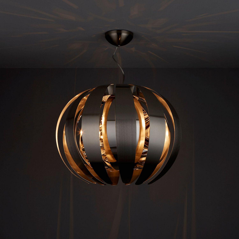 Acrux Brushed Chrome Effect Pendant Ceiling Light Ceiling Lights Ceiling Pendant Lights Ceiling Lights Diy