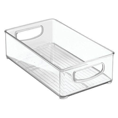 Interdesign Home Kitchen Organizer Bin For Pantry Refrigerator Freezer Storage Cabinet 10 X 6 X 3 Clear Check Organizing Bins Interdesign Freezer Storage