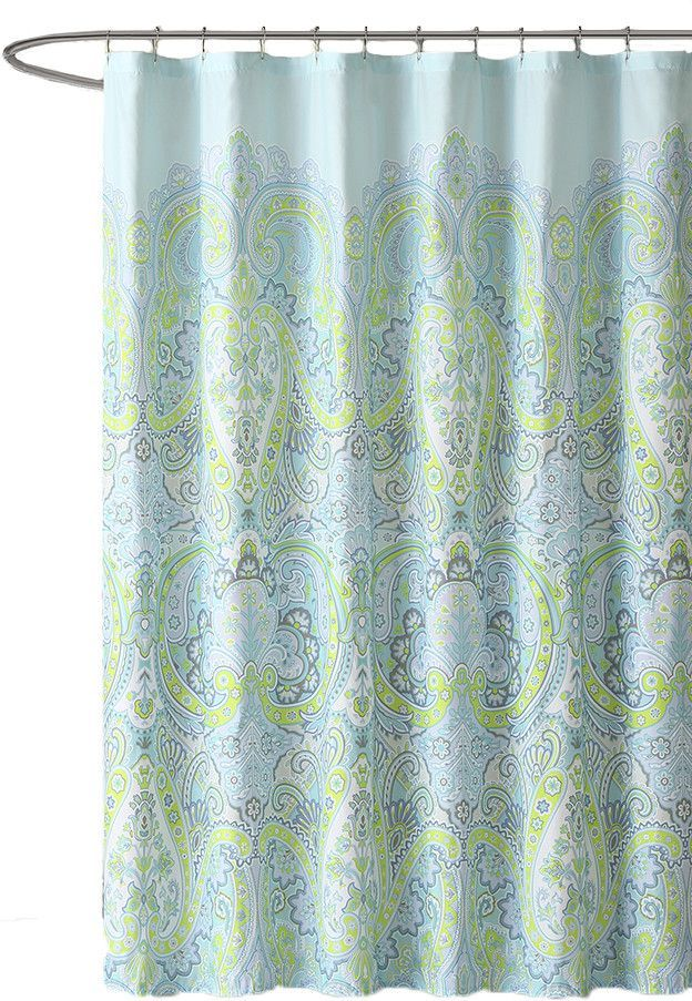 Labhira Microfiber Shower Curtain Shower Curtain Curtains