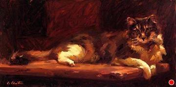 An Evening's Rest by Cheri Christensen Oil ~ 12 x 24