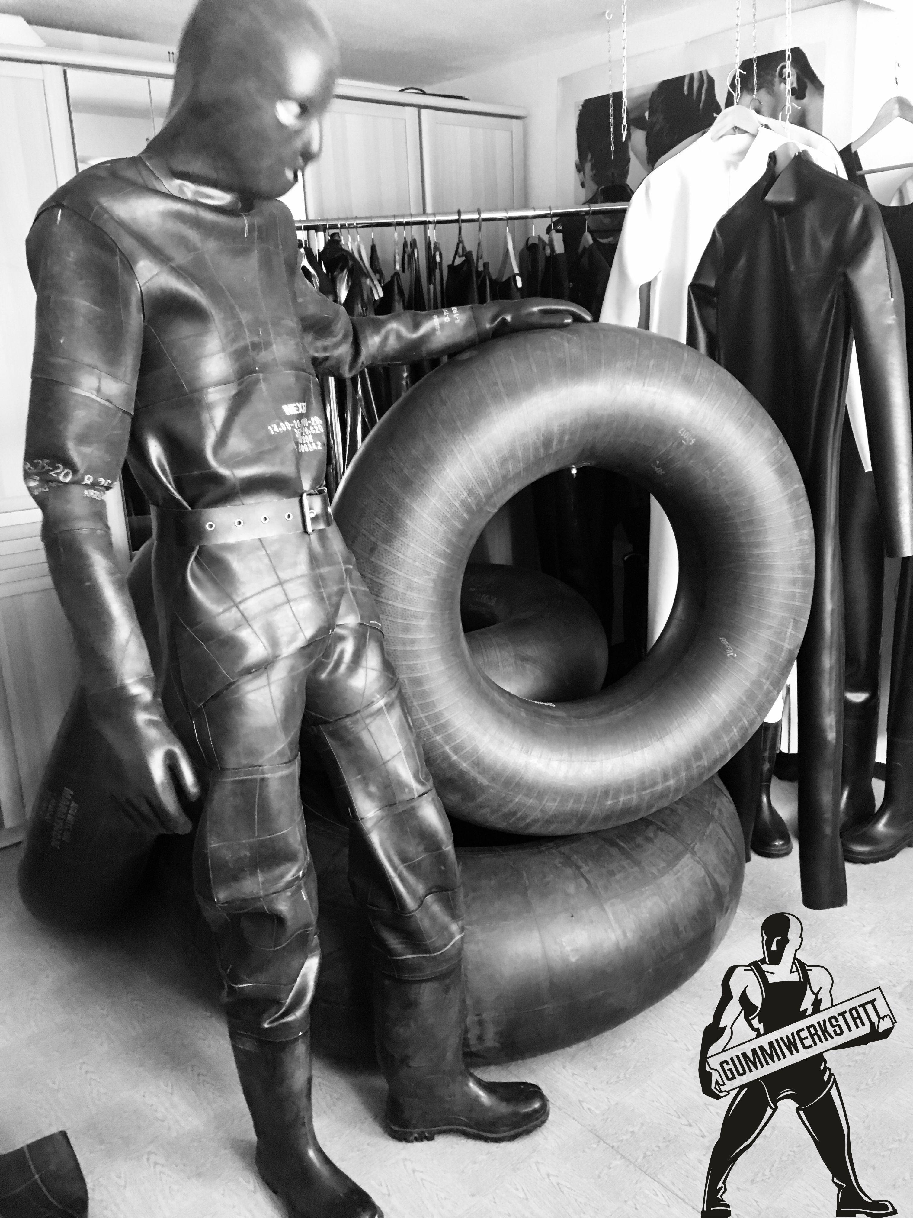 Inner Tube Rubber Suit Gummianzug Schutzanzug Manner Mode