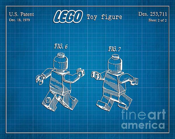1979 lego minifigure toy patent art in white with blue graph paper 1979 lego minifigure toy patent art in white with blue graph paper background blueprint malvernweather Image collections