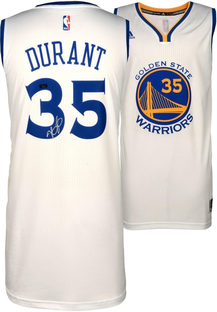 d40e6b35a27 Kevin Durant Golden State Warriors Autographed White Swingman Jersey -  Panini #sportsmemorabilia #autograph #basketballjersey