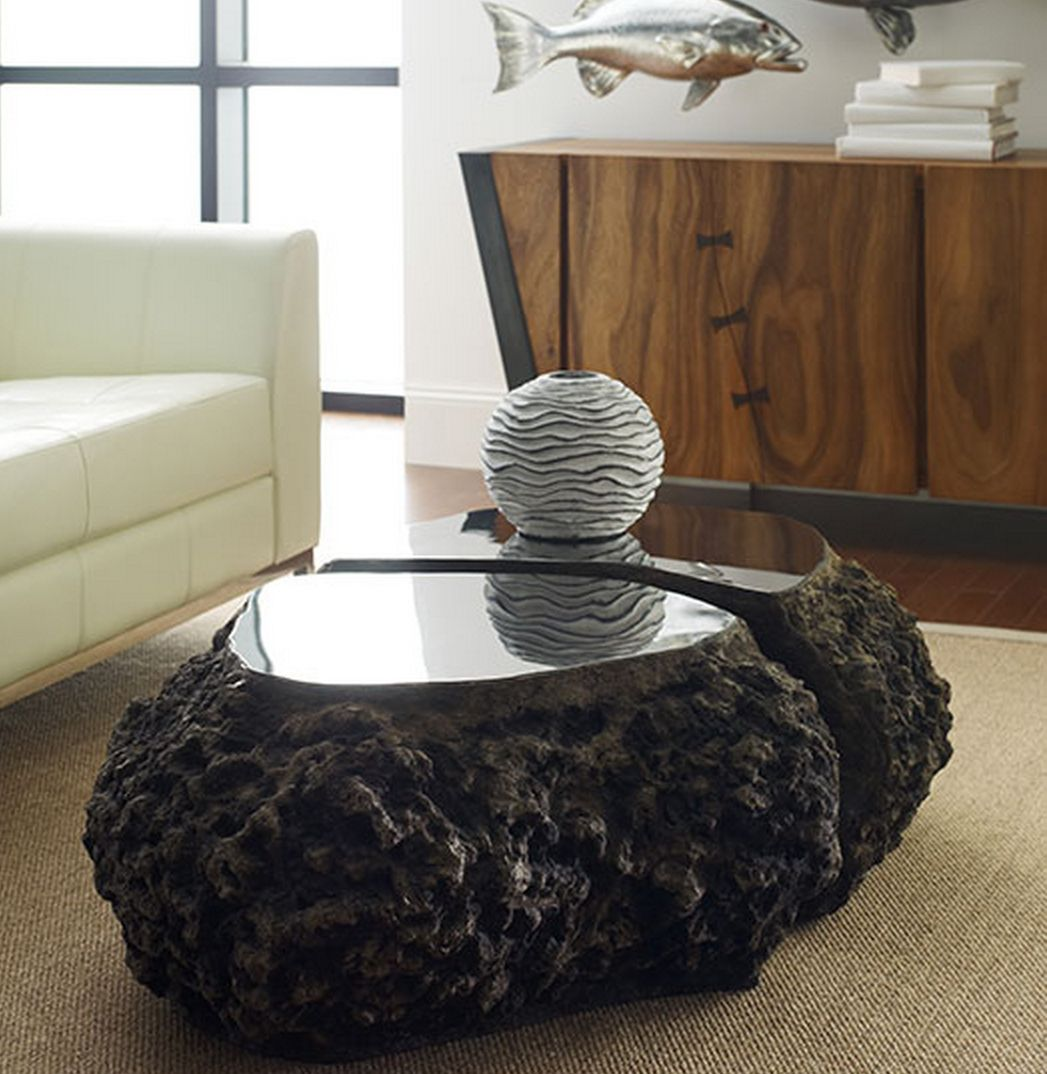 Fabulous Lava Rock Coffee Table Decorating Coffee Tables Round