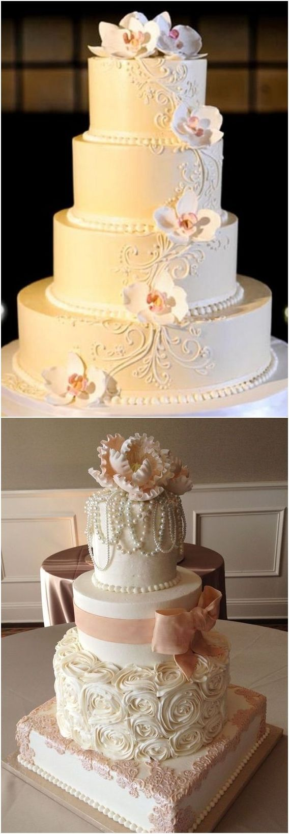 Vintage buttercream wedding cakes #weddings #weddingcakes #cakes ...