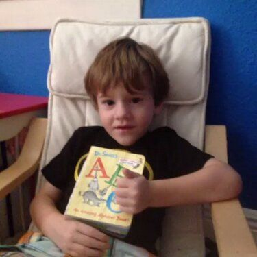 Castle (with Mommy) reviews Dr. Seuss's ABC board book.
