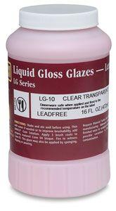 AMACO F Lead-Free Non-Toxic Glaze 1 gal Plastic Jar Clear Transparent F-10