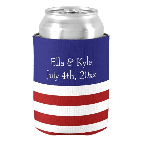 4th Of July Wedding Favor Can Cooler