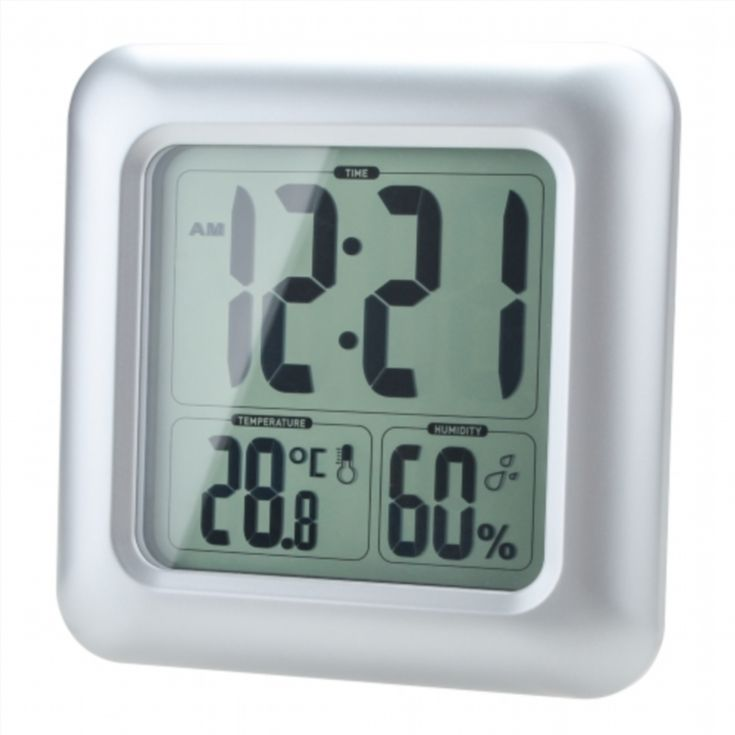 Lcd Water Resistant Shower Clock Bathroom Kitchen Wall Clock Alluring Small Wall Clock For Bathroom Design Ideas