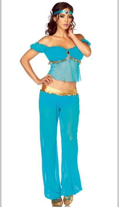 5217 Arabian princess jasmine costume women adult Aladdin s cosplay halloween | eBay  sc 1 st  Pinterest & 5217 Arabian princess jasmine costume women adult Aladdin s cosplay ...