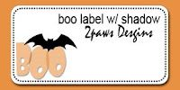 2paws Designs: Friday Freebie - Halloween Label #scrapbooking #digiscrap #free