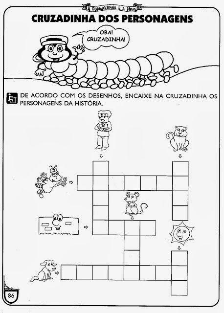Historia A Formiguinha E A Neve Com Imagens Ensino Infantil