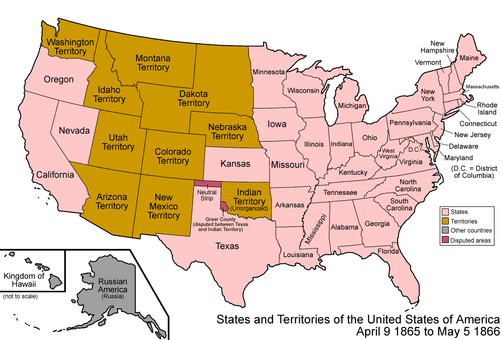 States And Territories Of The United States Of America April - Map of the united states with names
