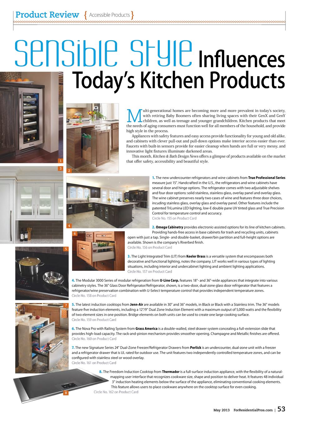 """Sensible Style Influences Today's Kitchen Products ..."