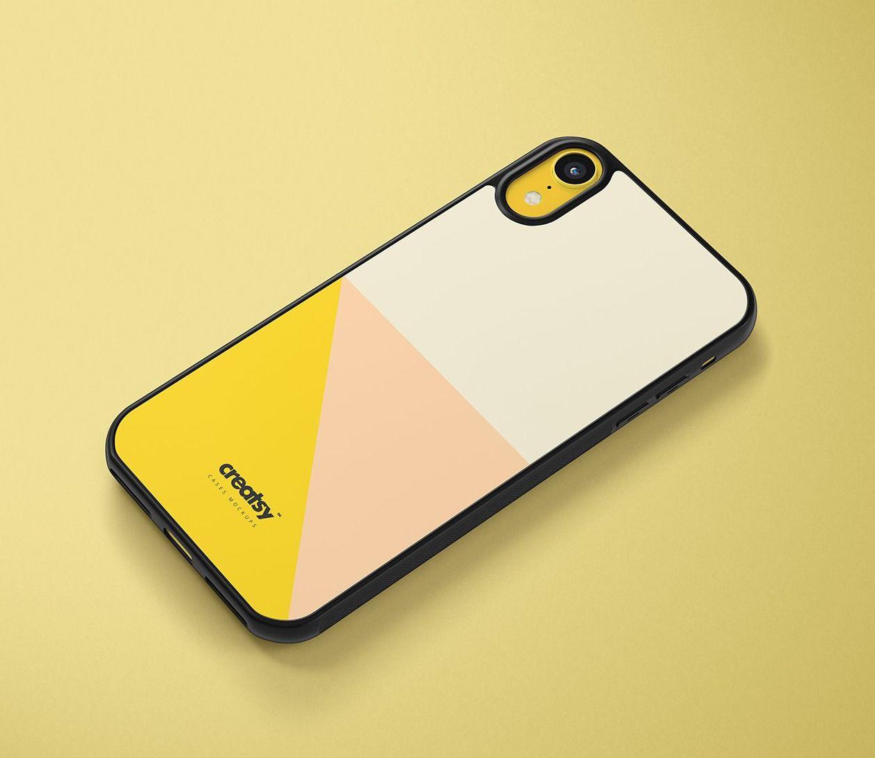 Download Iphone Xr 2d Case Black Mockup Set Iphone Case Apple Phone Case