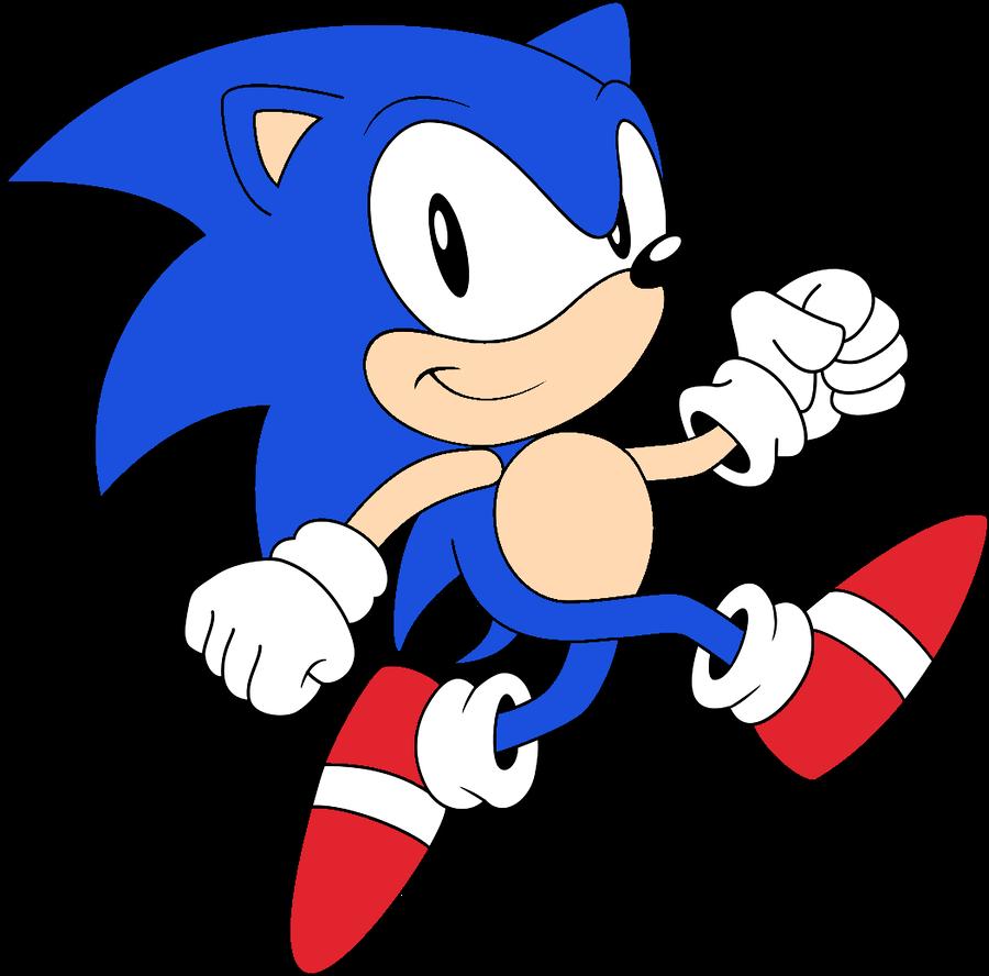 Speedy Sonic Sonic 2d By Https Www Deviantart Com Megatoon1234