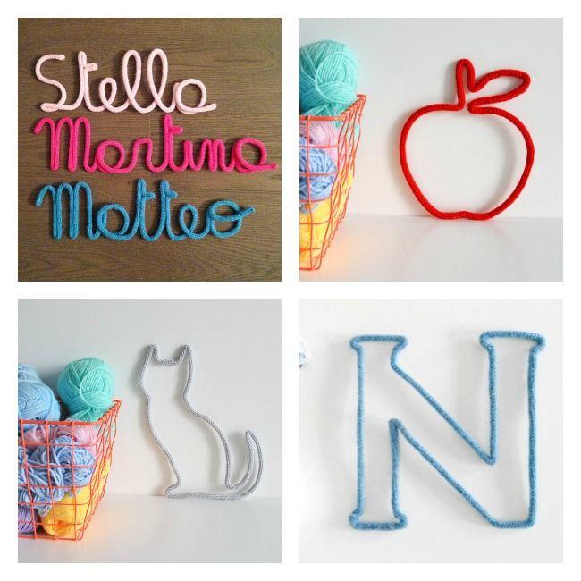 Nombres de lana y alambre, inspiración | I D E A S. #2 | Girls ...