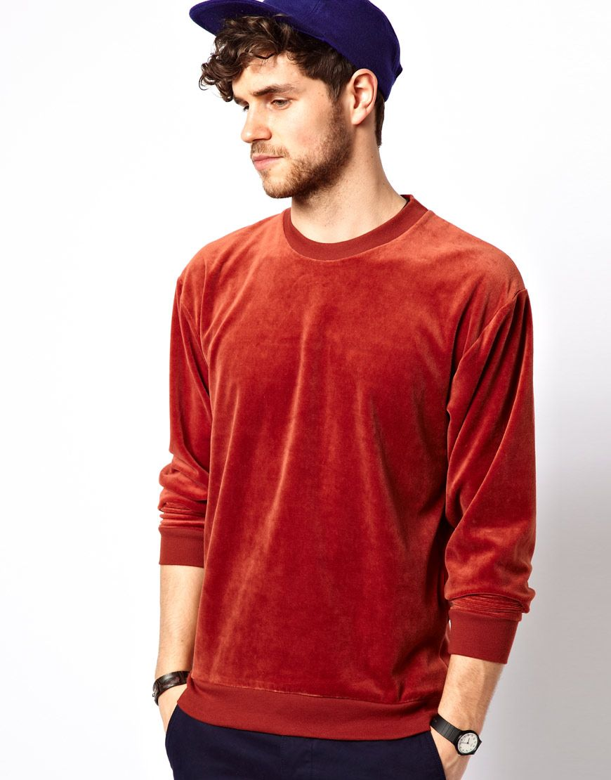 d471863820a American Apparel Velour Sweatshirt | velvet clothing | Mens clothing ...