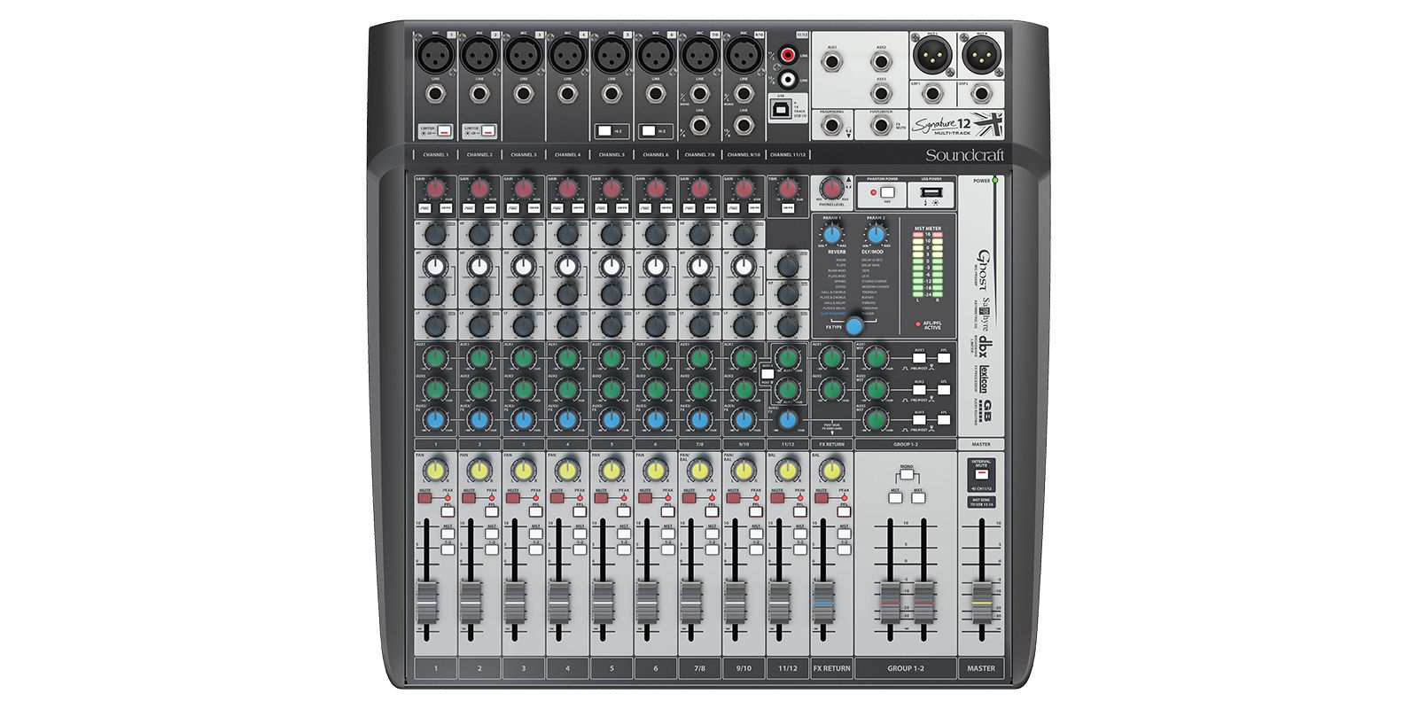 (450) Soundcraft Signature 12 MTK Audio, Pro audio