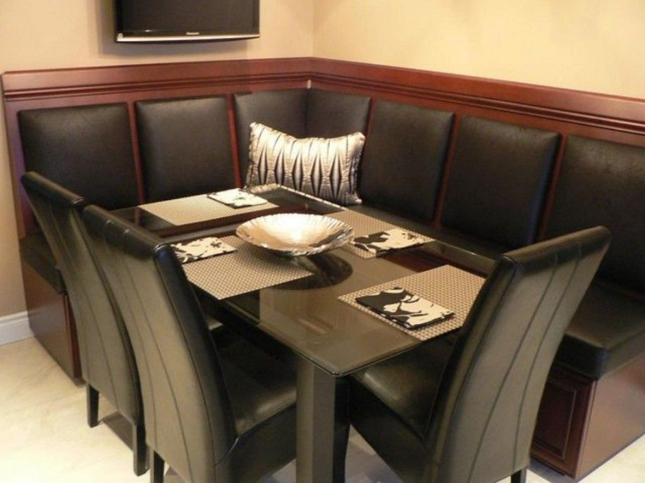 Booth seating standard dimensions buscar con google - Kitchen table booth seating ...