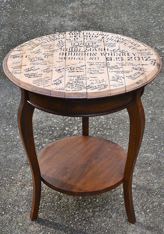 Whiskey Barrel Top End Tables Furniture Redo Wine Table
