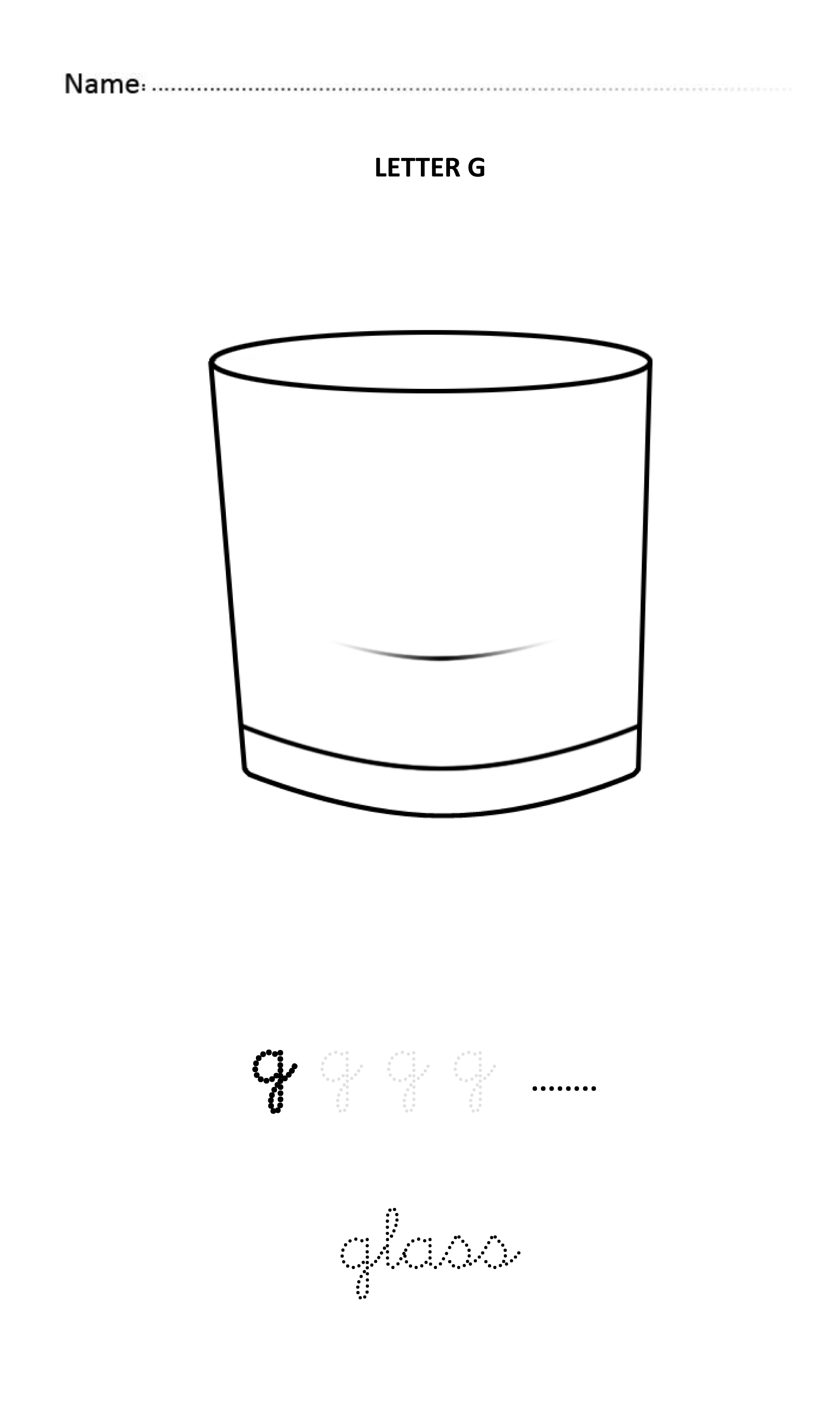 Letter G Easy And Visual Colouring Worksheet For Early