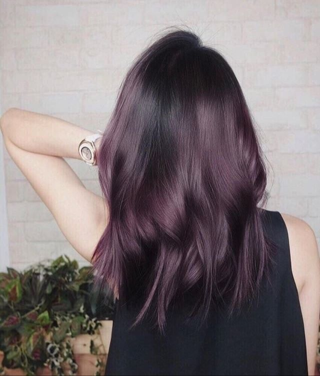 Proof That Eggplant Is the Hair Color Trend That Looks Sexy on Everyone