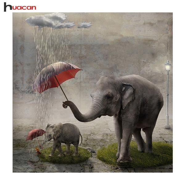 5D Diamond Painting Elephants in the Rain Offered by Bonanza Marketplace. www.BonanzaMarketplace.com #diamondpainting #5ddiamondpainting #paintwithdiamonds #disneydiamondpainting #dazzlingdiamondpainting #paintingwithdiamonds #Londonislovinit #elephants