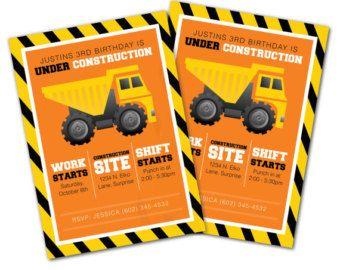 construction printed invitations construction invitation tools