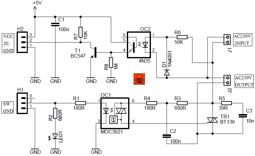 Ac light dimmer module circuit 110v led dimmer wzero crossing ac light dimmer module circuit fandeluxe Image collections