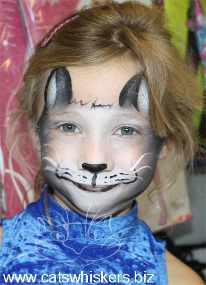 Cat Whiskers Face Paint : whiskers, paint, Halloween, Design, Black, Whiskers, Painting