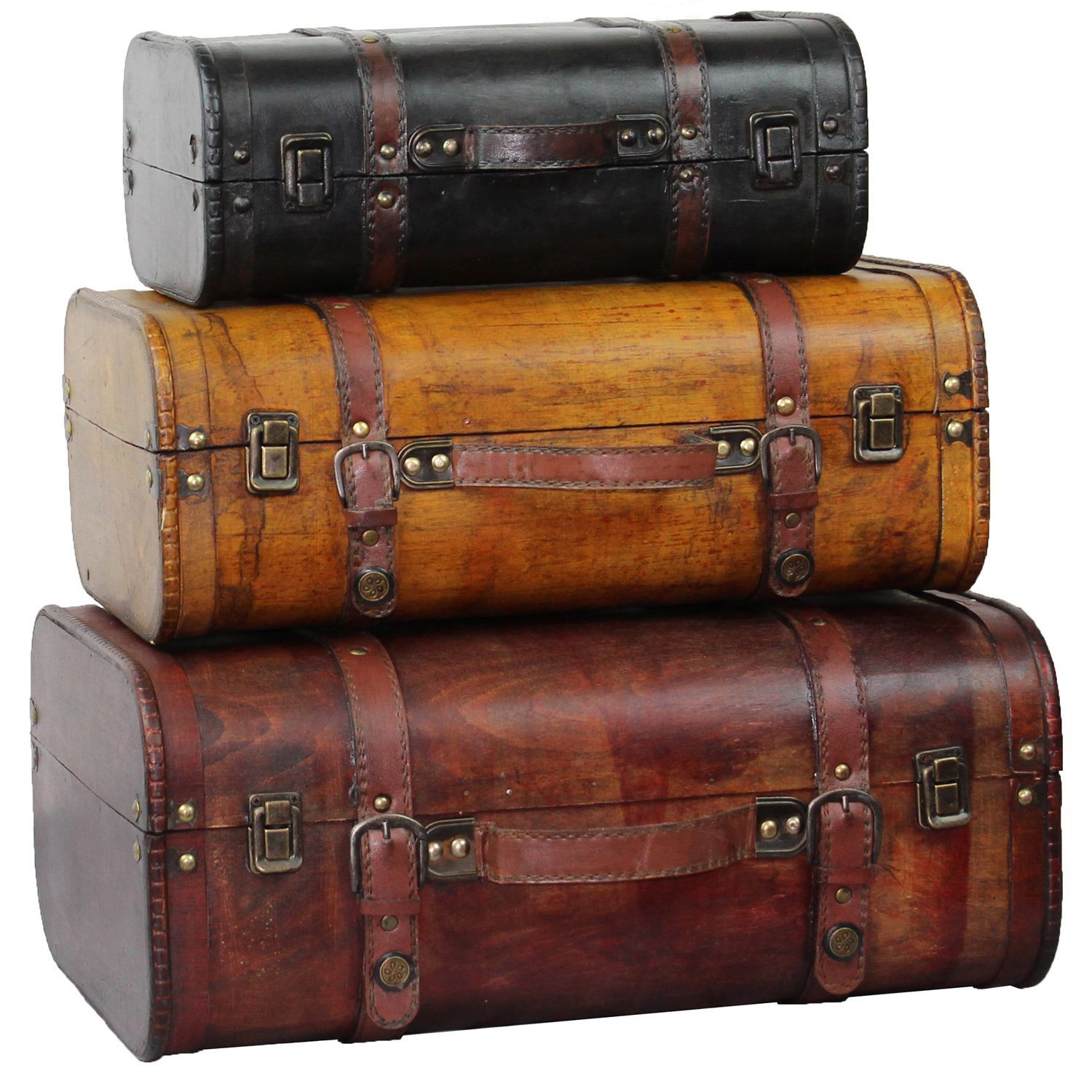 This Decorative Suitcase Trunks That Is Great For Storage And Decoration.  Crafted From Polywood Faux. Storage TrunkSuitcase StorageVintage ...