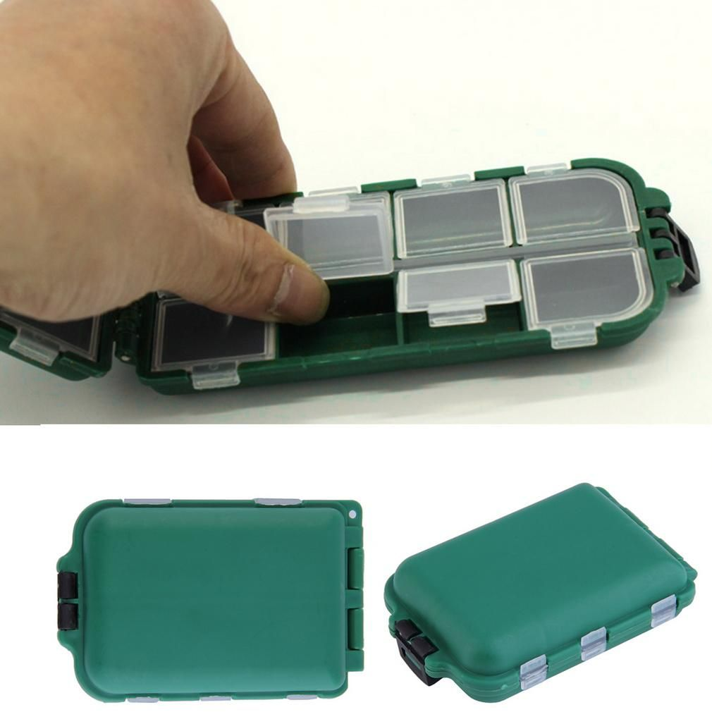 Pocket Sized Tackle Box for Storing Swivels, Hooks, Lures