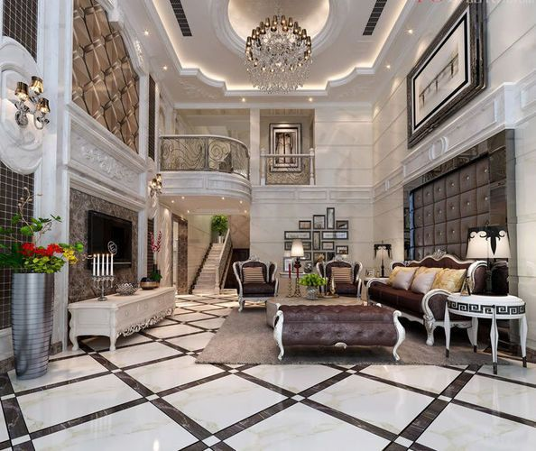 astounding 3d luxury living rooms | Stylish luxury home decoration - living room 3D model ...