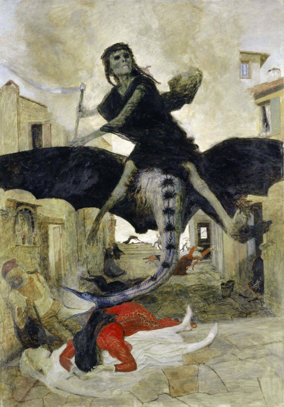 Arnold Böcklin, La Peste | Les arts, Peintures anciennes, Affiche artistique