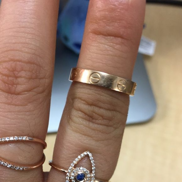Cartier Rose gold mini love ring size 51 Gently used mini pink