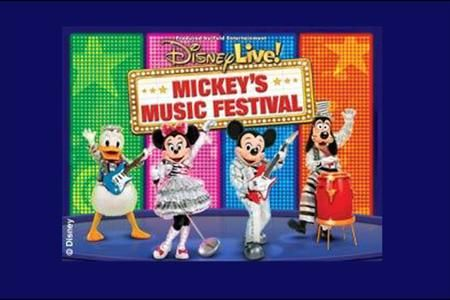 Mickey Mouse and friends rock the world with the stars from The Little Mermaid, Aladdin and ...