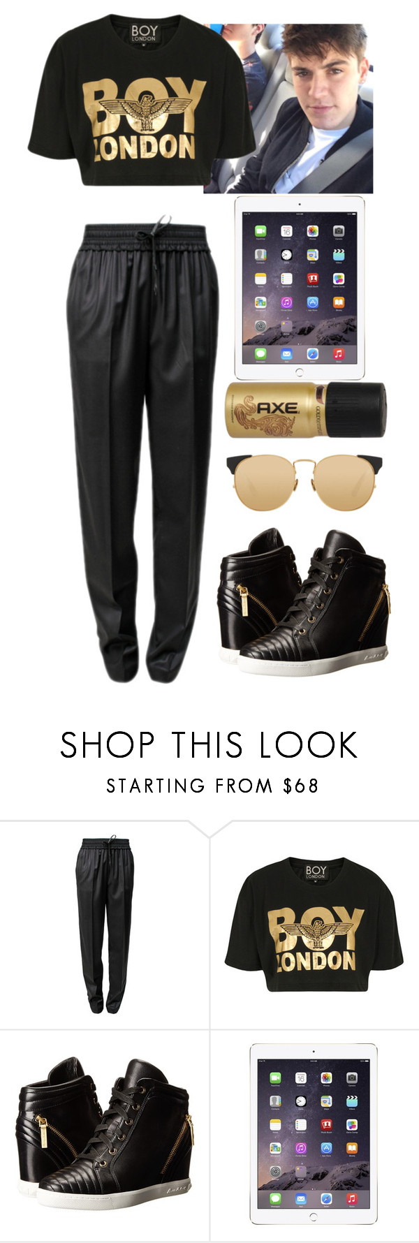 """road trip w/ Sammy"" by baeisme ❤ liked on Polyvore featuring Alexander Wang, BOY London, Pierre Balmain and Linda Farrow"