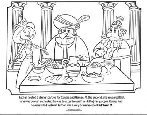 Kids coloring page from What\'s in the Bible? featuring Esther ...