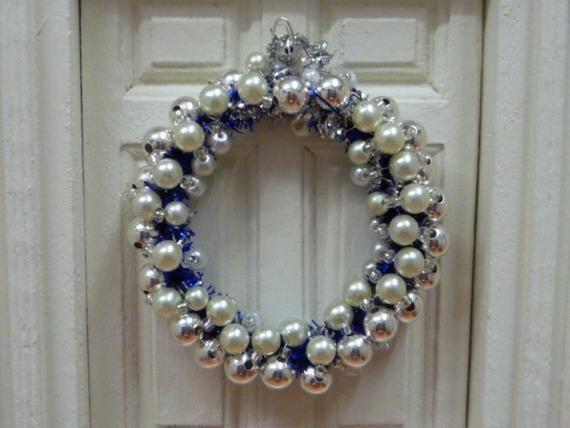 Dollhouse Christmas Pearly Silver Star Ball Ornaments 1:12 Doll House Miniature